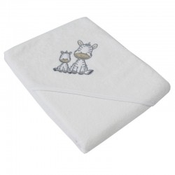 Little zebras hooded towel