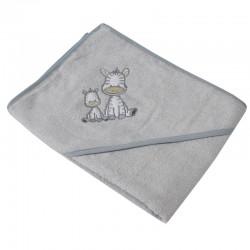 Little zebras hooded towel