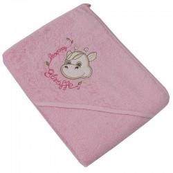 Little giraffe hooded towel