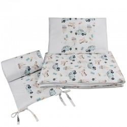 Printed cotton cot bedding...