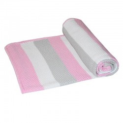 Striped bamboo blanket